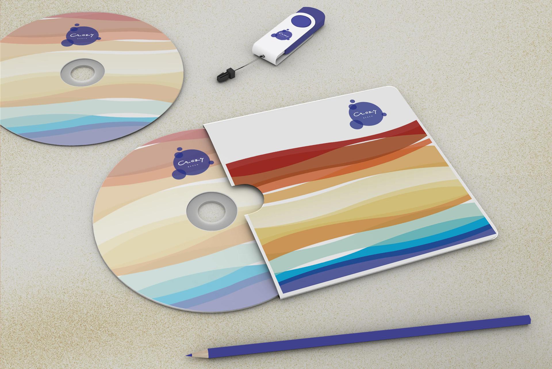 Crazy Beach Mamaia Identitate Vizuala CD Prezentare