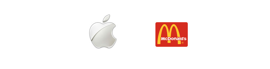 apple mc donald's logo design