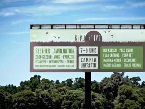 Blaj aLive Festival Logo Design